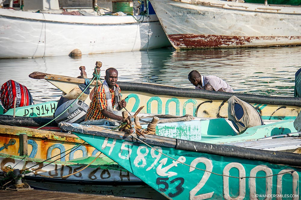 Fishermen at Tadjoura Port Djibouti