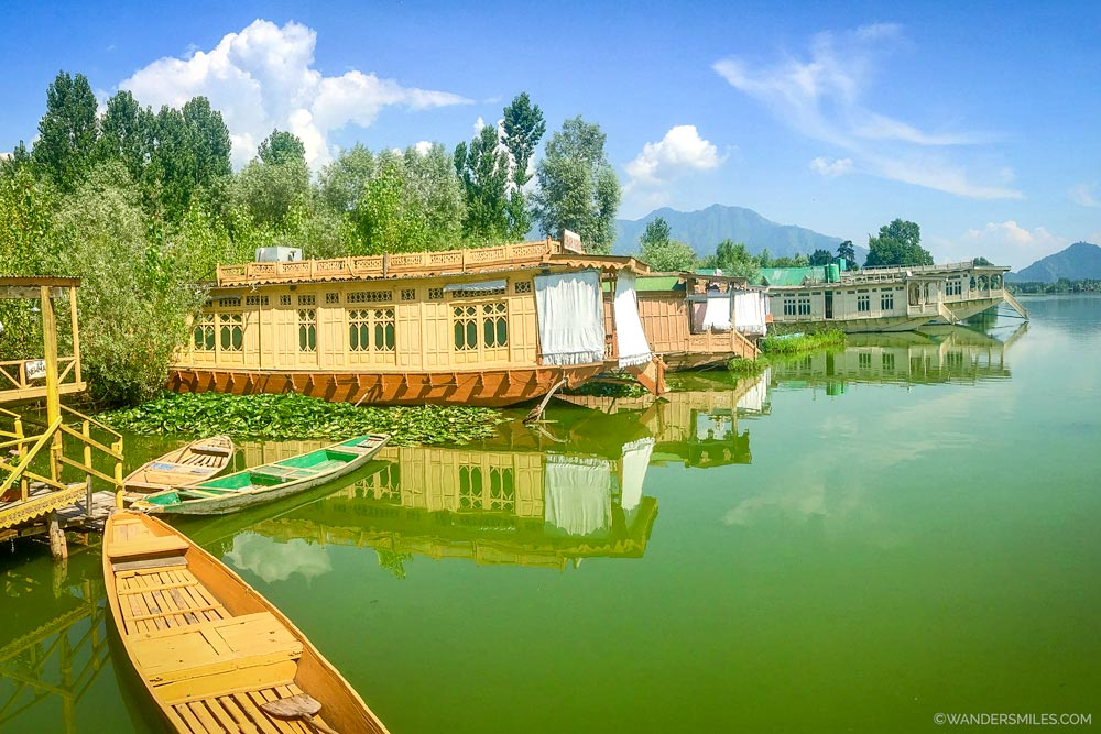 Houseboats on Nigeen Lake in Srinagar - Wanders Miles