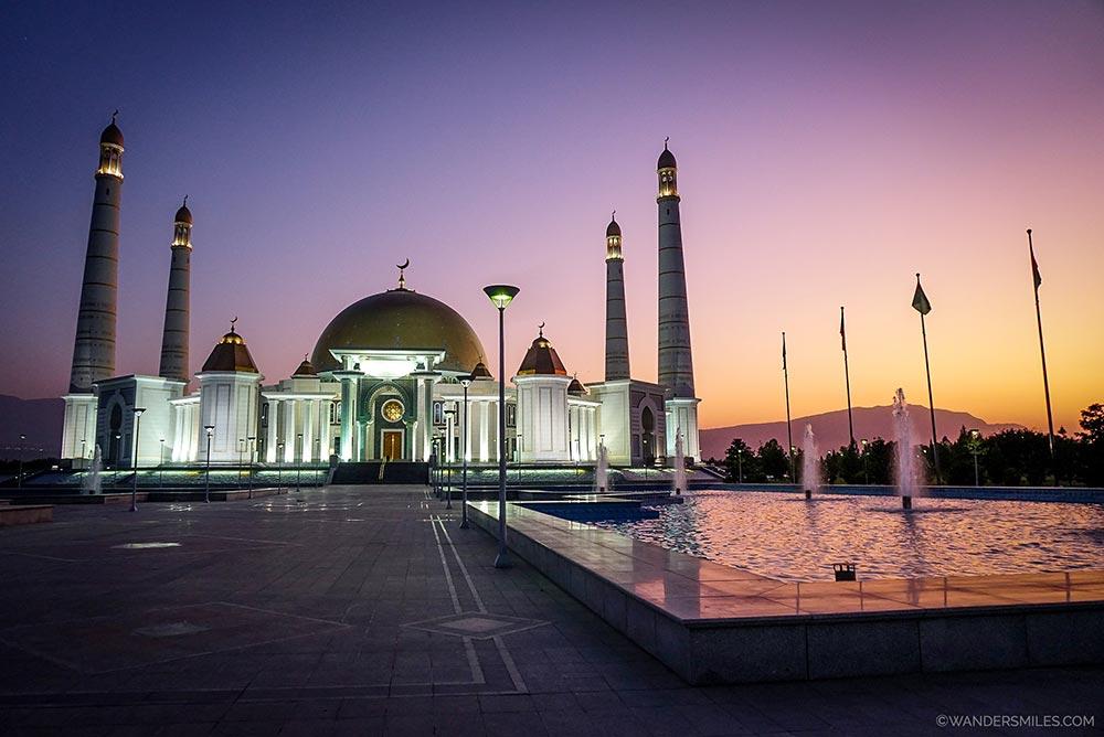 Sunset at Kipchak Mosque near Ashgabat. © Wanders Miles