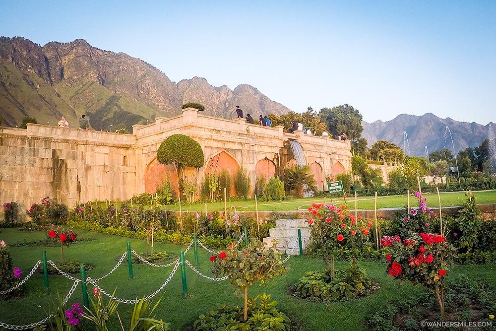 Nishat Bagh Gardens in Srinagar