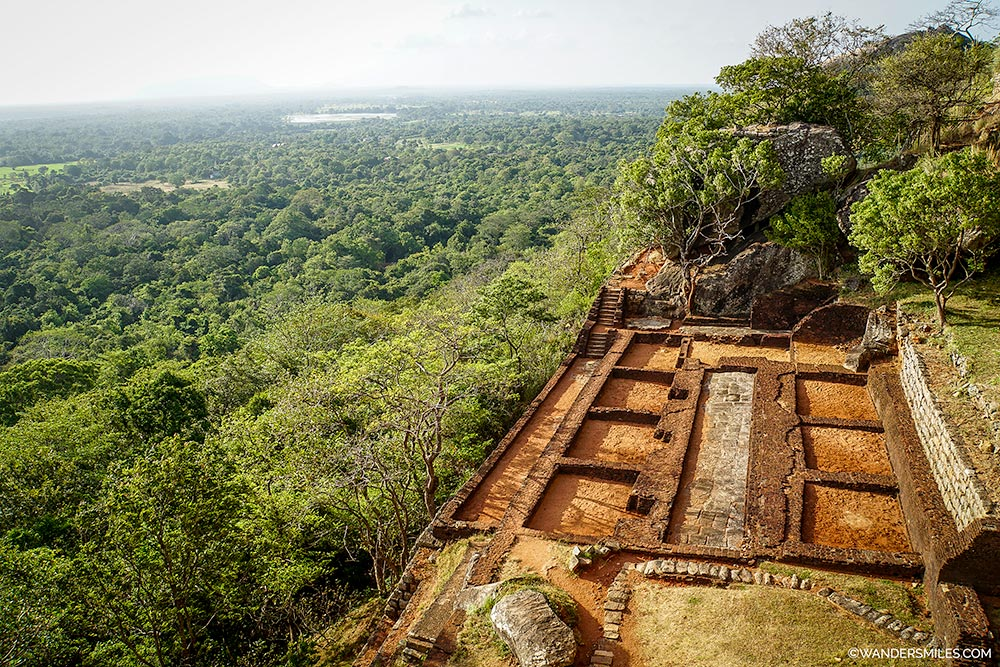Ruins at Sigiriya Rock Fortress in Sri Lanka