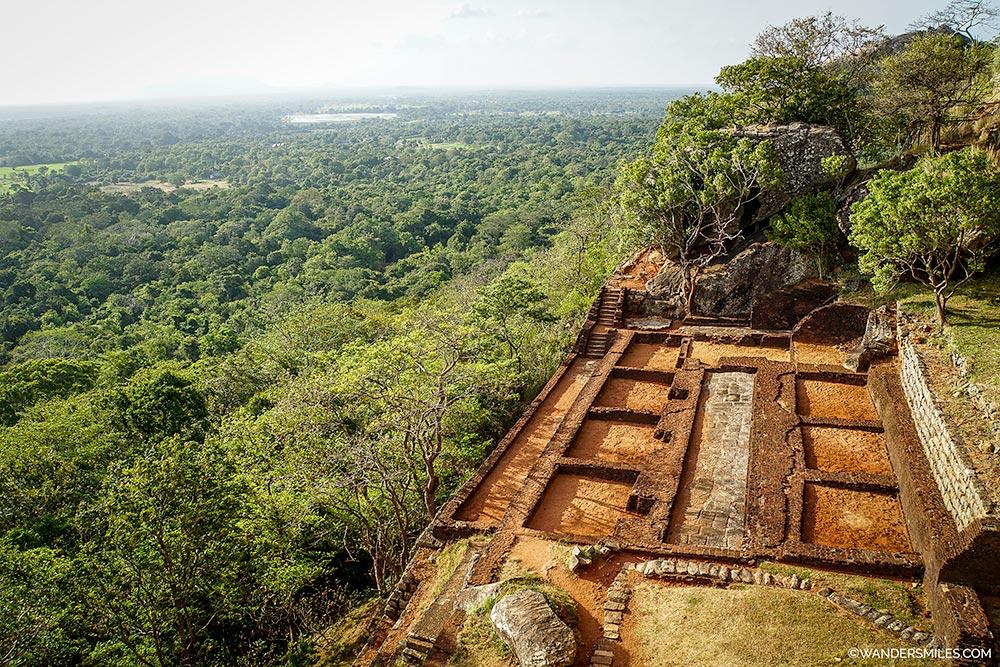 Ruins at Sigiriya Rock Fortress in Sri Lanka