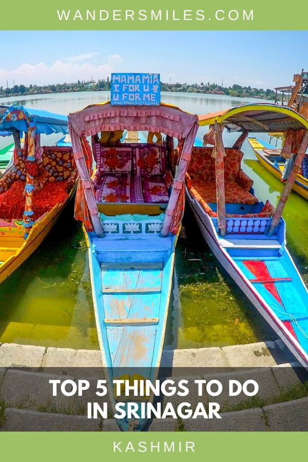 Ride on a colourful Shikara boats on Dal and Nigeen Lake in Srinagar