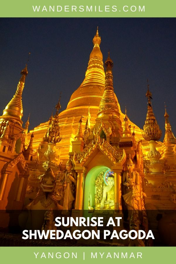 Visit Shwedagon Pagoda at sunrise to watch the dark sky against the golden glow of the stupa