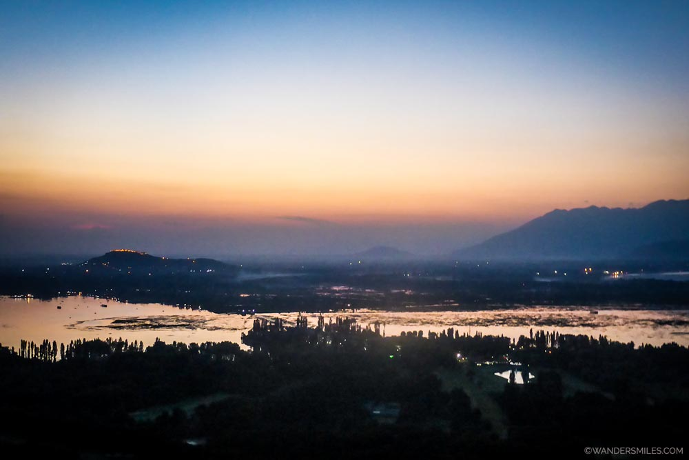 Sunset views from Pari Mahal in Srinagar