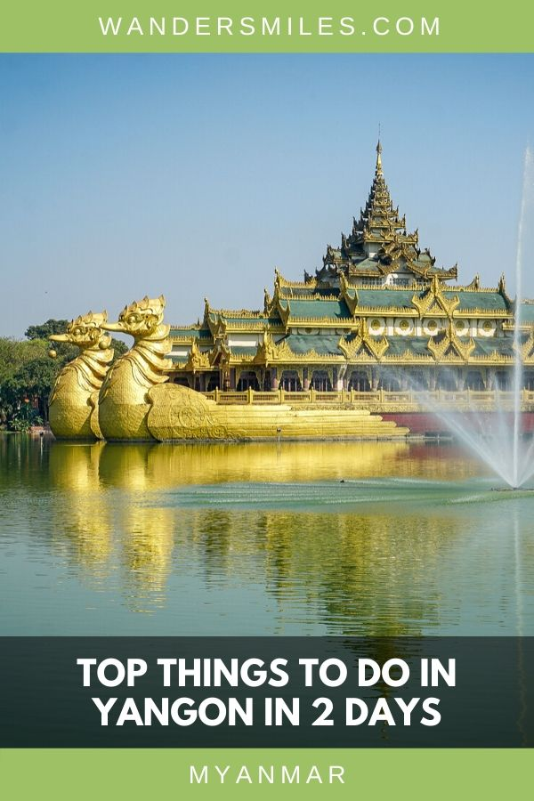 Many top things to see in Yangon such as visiting Karaweik Palace