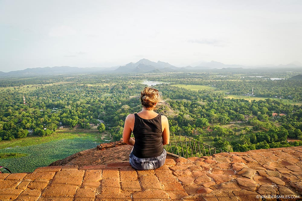 Views from the top of Sigiriya Rock in Sri Lanka