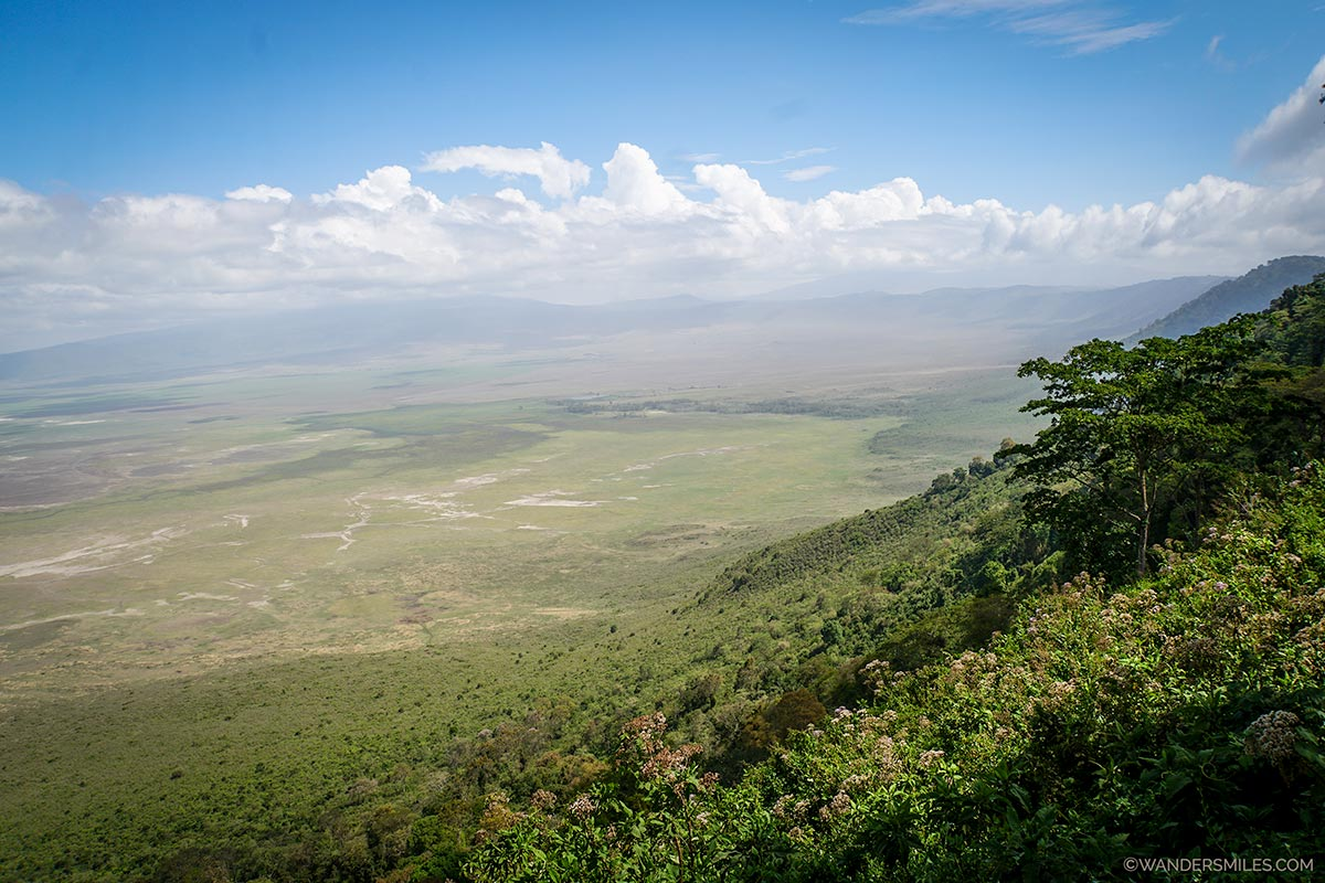 Views of the Ngorongoro Crater floor in Tanzania, East Africa