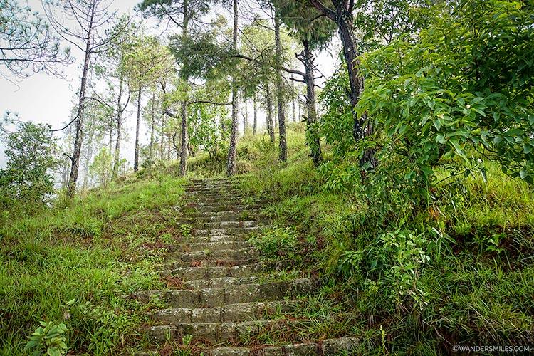 Steps on the trek from Nargakot to Dhulikhel in the Kathmandu Valley in Central Nepal