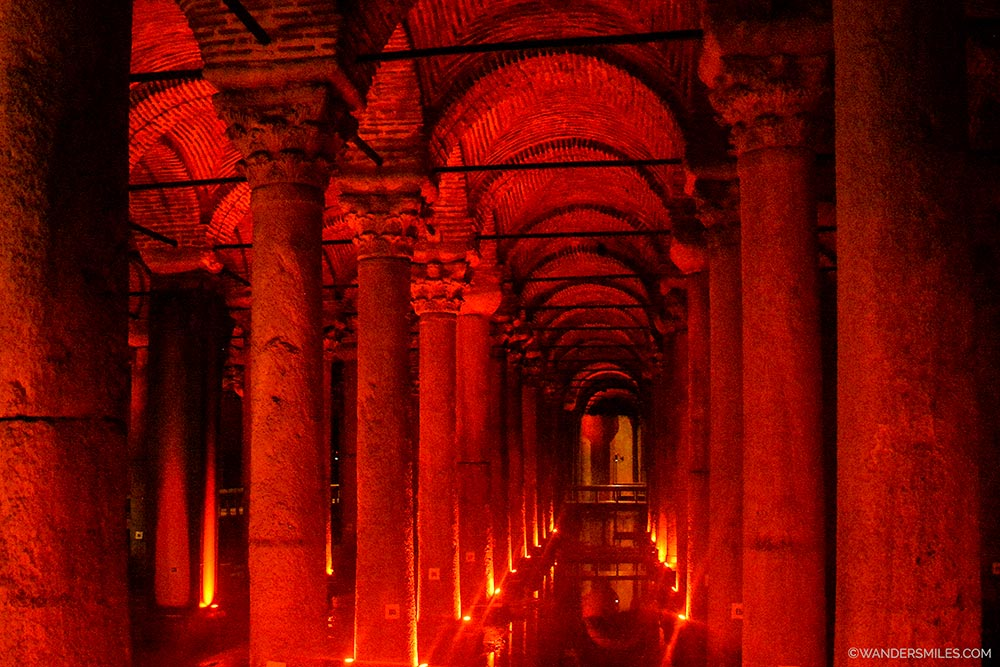Basilica Cistern in the area of Sultanahmet in Istanbul