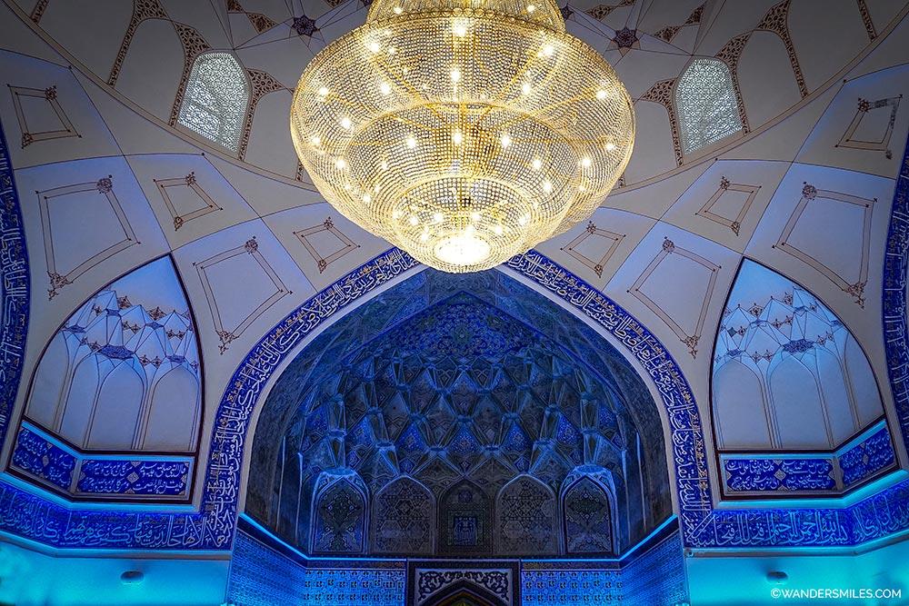 Modern interior of the Bolo-Khauz in Bukhara, Uzbekistan