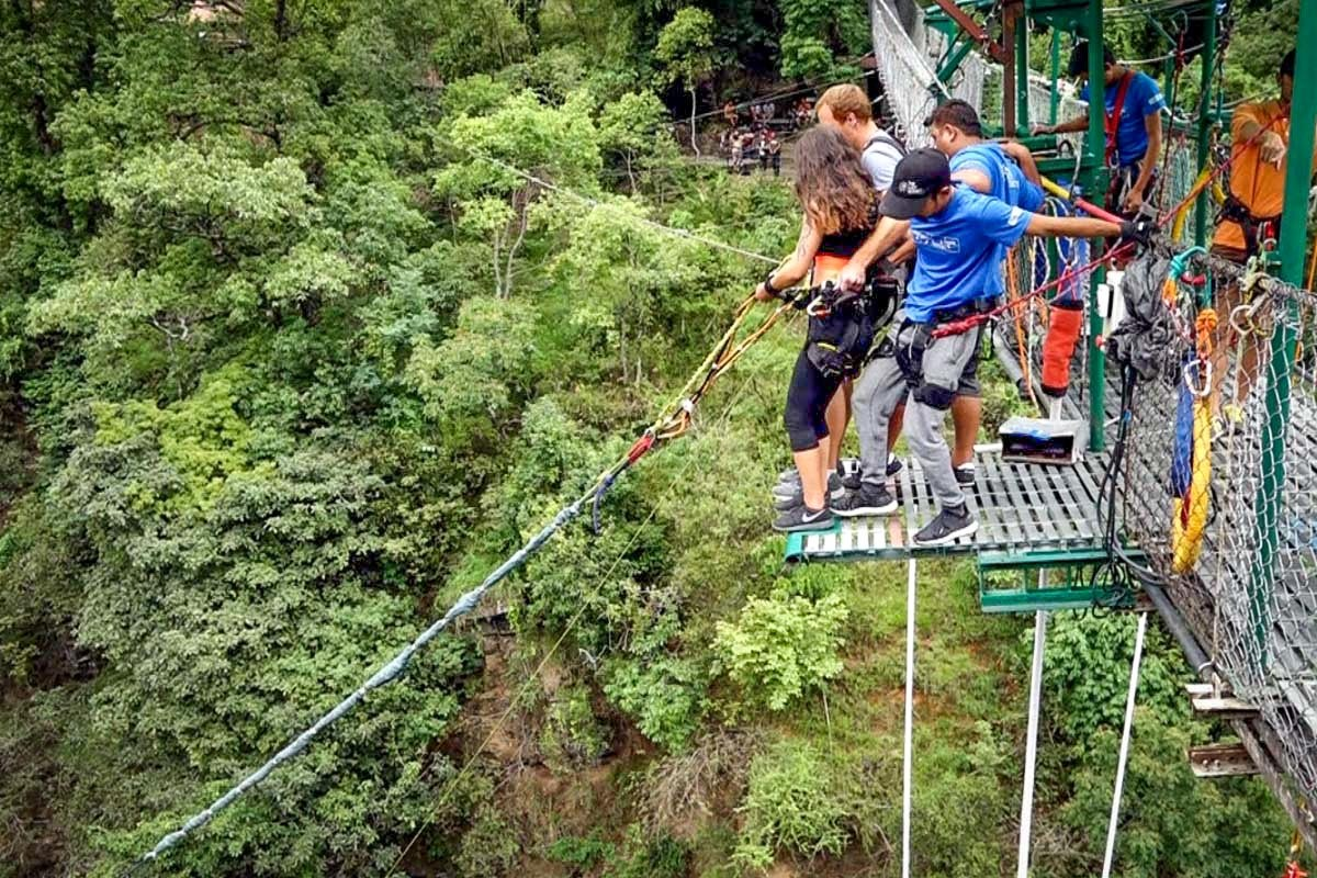 Bungee jump at The Last Resort in Nepal