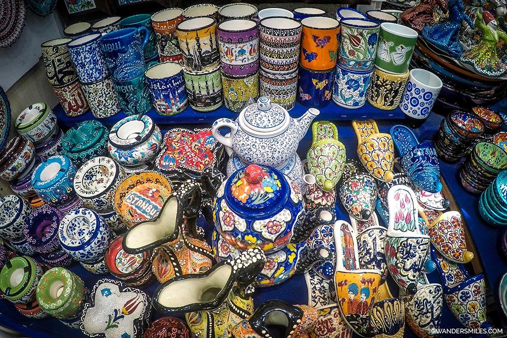 Grand Bazaar stall in Istanbul