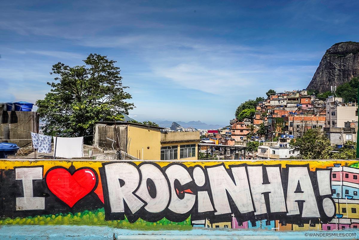 I love Rocingha mural in the favela in Rio