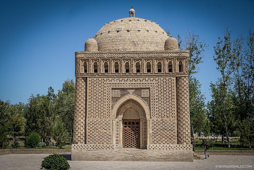 Ismail Samani mausoleum in Samani Park, Bukhara