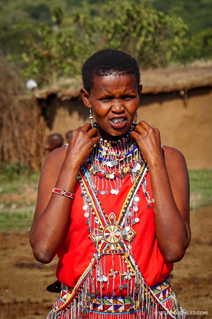 Maasai tribal woman ready to do her dance