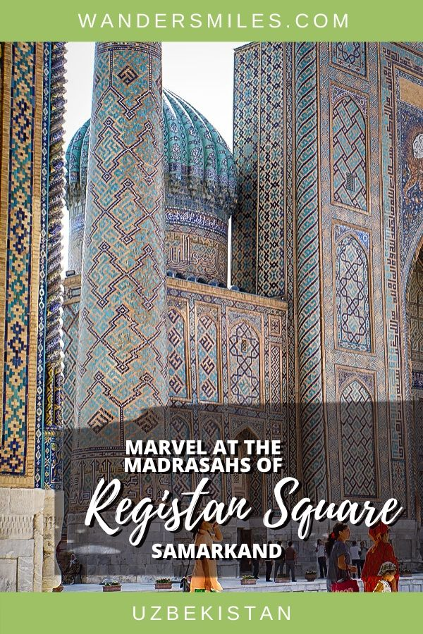 Marvel at the Madrasahs of Registan Square in Samarkand with ornate tilework and minarets