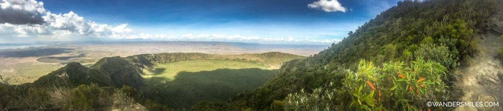 Panorama view of the Mount Longonot crater in Kenya