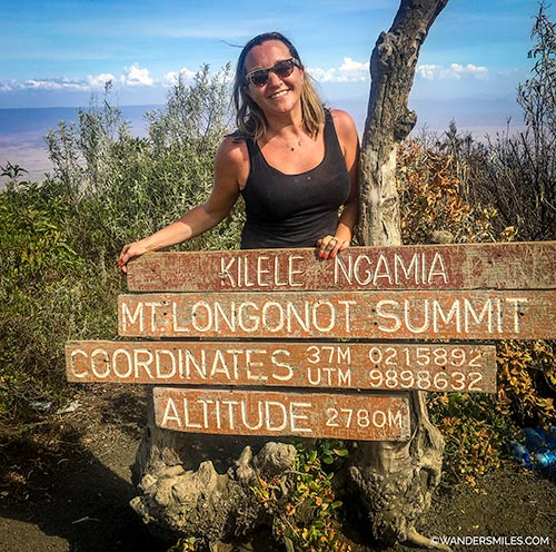 Summit of Mount Longonot - one epic adventure in Kenya