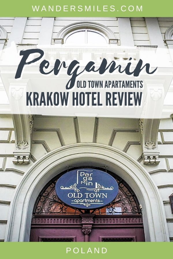 Krakow hotel review of Pergamin Old Town Apartments – recommended accommodation centrally located to the main popular attractions in the city