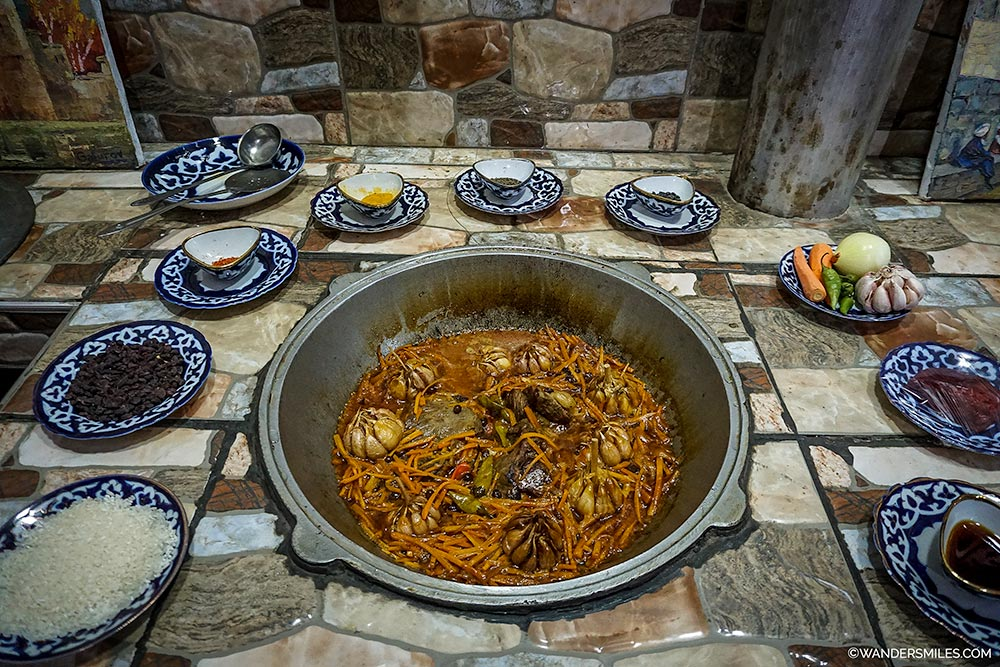 Eat Plov in Davlat House in Bukhara