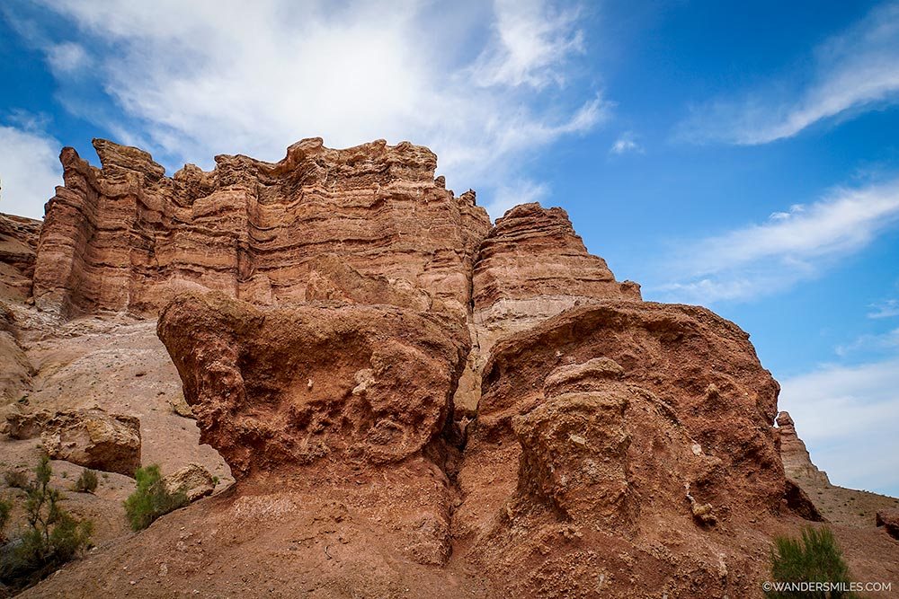 Rocky landscape at Valley of the Castles in Charyn Canyon
