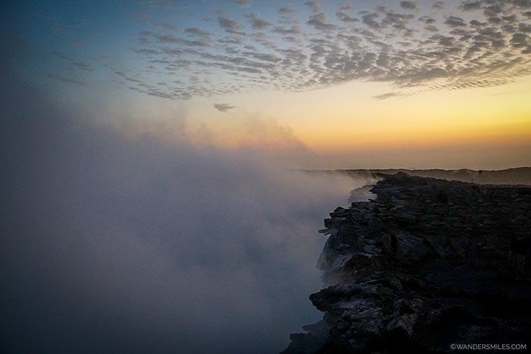 Smoking Erta Ale Volcano in Ethiopia