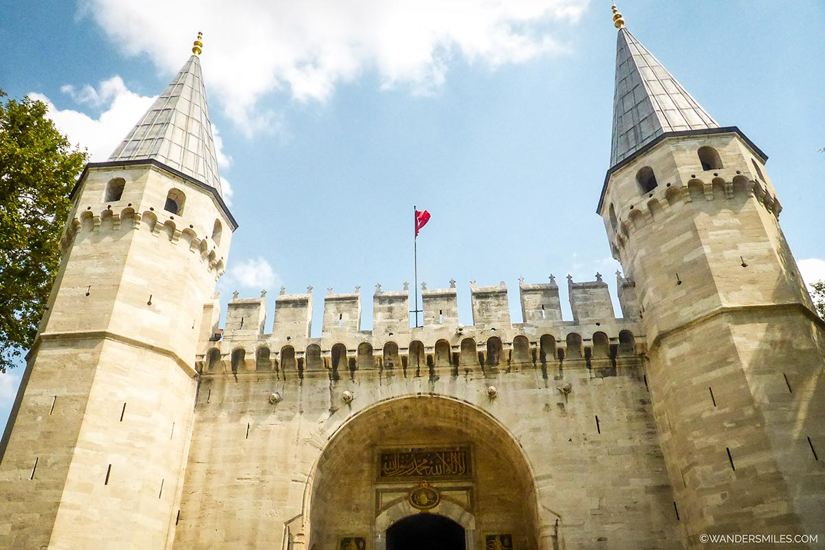Entrance to Topkapi Palace in Istanbul, Turkey