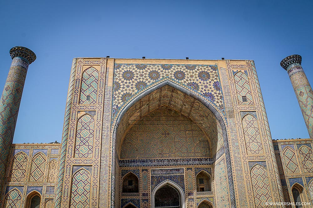 Ulugh-Beg Madrasah of Registan Square in Samarkand, Uzbekistan