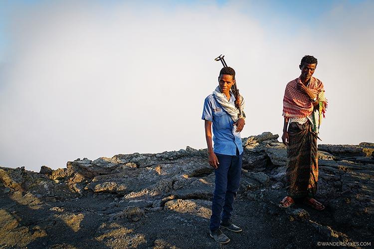 Armed security at Erta ale volcano Ethiopia