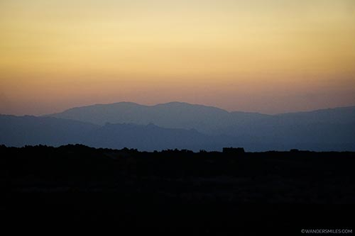 Sunset at Erta Ale base camp in Ethiopia