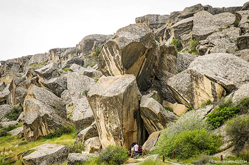 Gobustan Rock Art Cultural Landscape covers three areas of a plateau of rocky boulders rising out of the semi-desert of central Azerbaijan, with an outstanding collection of more than 6,000 rock engravings bearing testimony to 40,000 years of rock art