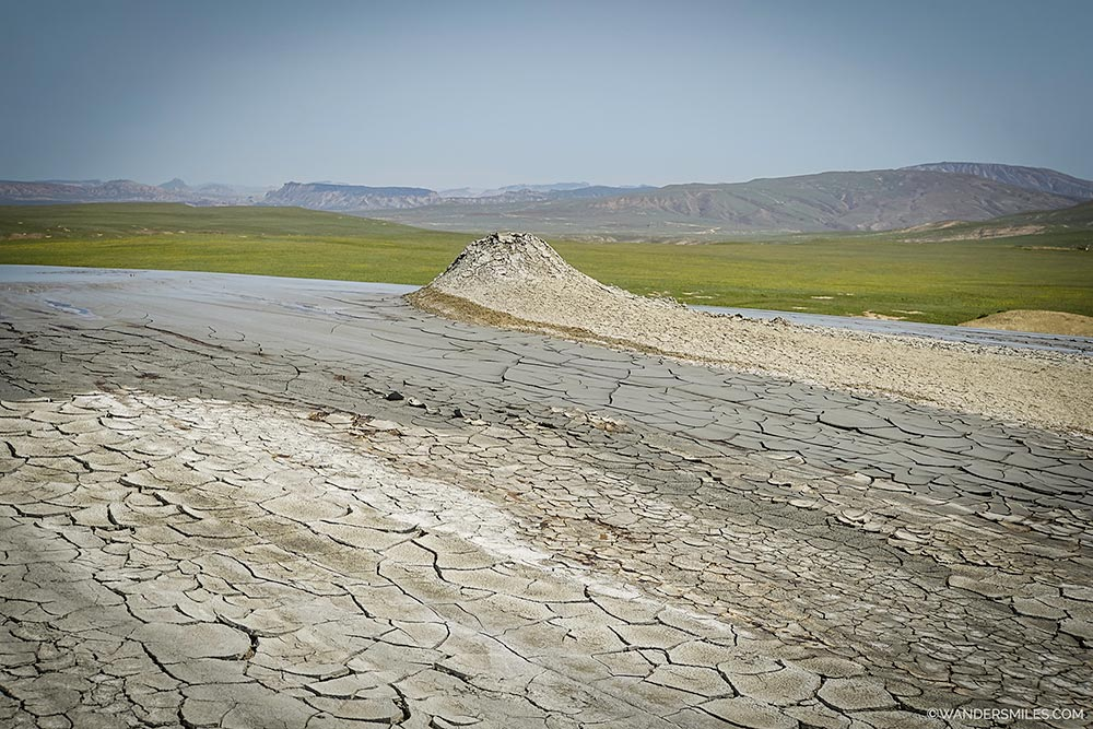 Running mud volcanoes in Gobustan Nature Reserve, outside of Baku in Azerbaijan