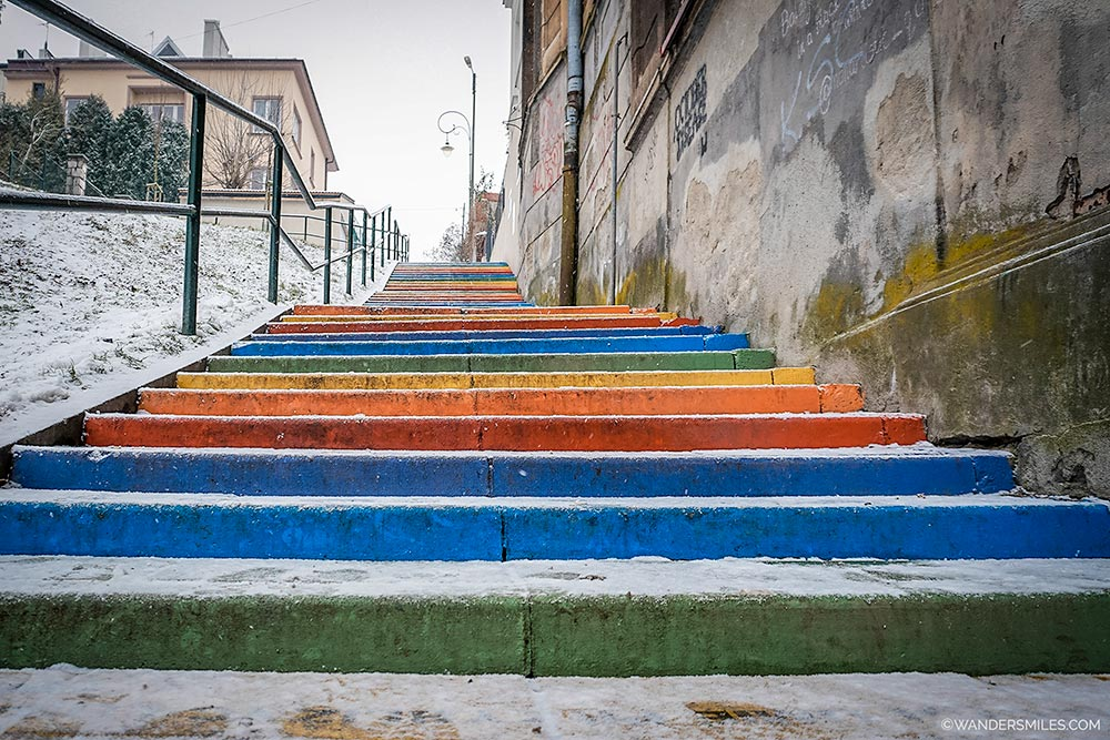 Rainbow Stairs in Krakow