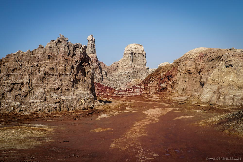 Entrance to Salt Mountains in the Danakil Depression in Ethiopia