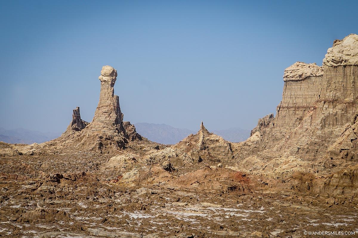 Salt Mountains near Dallol in the Danakil Depression