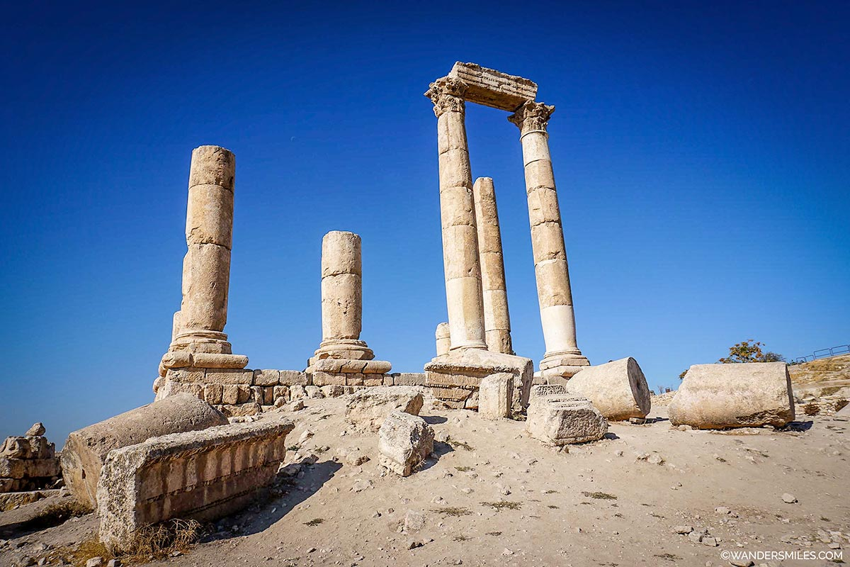 The Temple of Hercules at the Citadel in Amman, Jordan