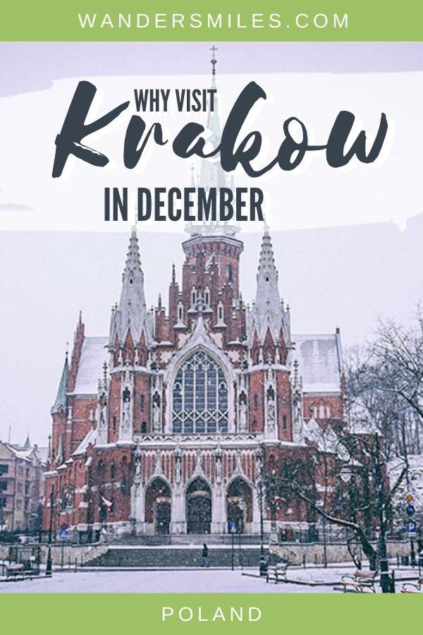 Why visit Krakow in Poland in December? Feel festive at the St Joseph Church, Christmas market, Oskar Schindler's museum, visit Wawel Castle and much more.
