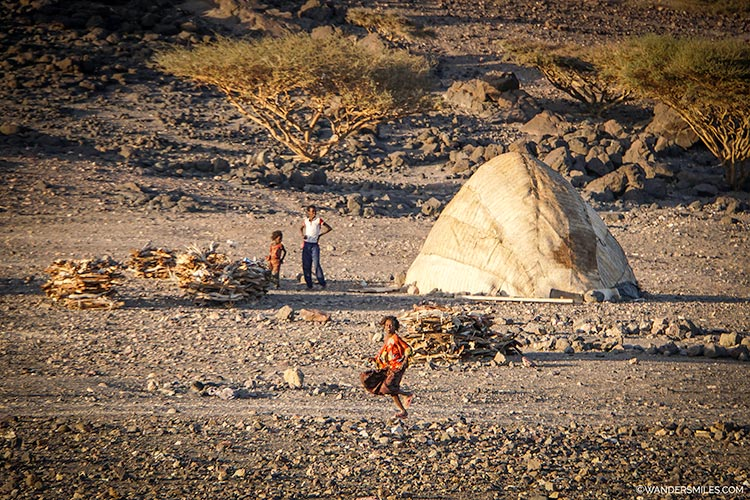 Afari children near Wadi Abbe Bad in Djibouti, East Africa