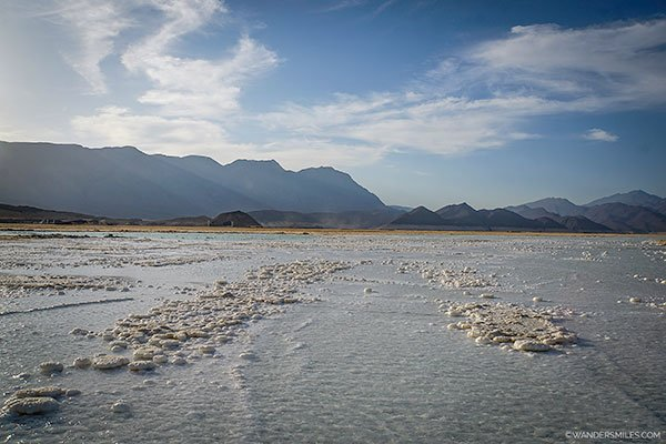 Beautiful salt plans of Lake Assal in Djibouti