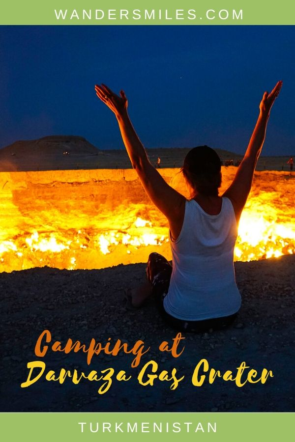 Tips on how to go camping at Darvaza Gas Crater known as 'The Doors To Hell'