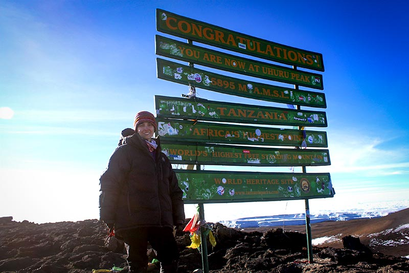 Uhuru Peak, Mount Kilimanjaro - Konstantina from My Unusual Journeys