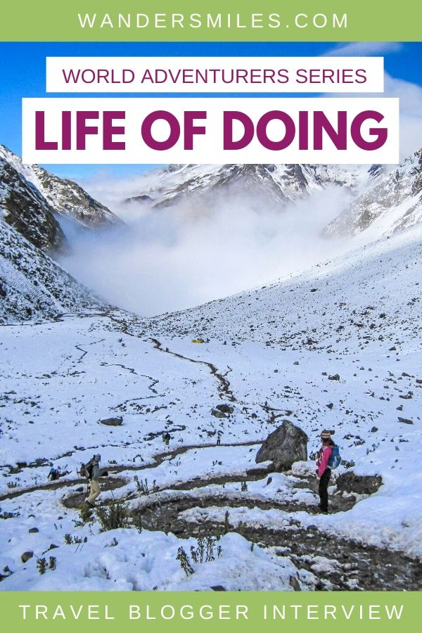 Interview with Jackie from Life Of Doing travel blog for the Wanders Miles World Adventurers Series