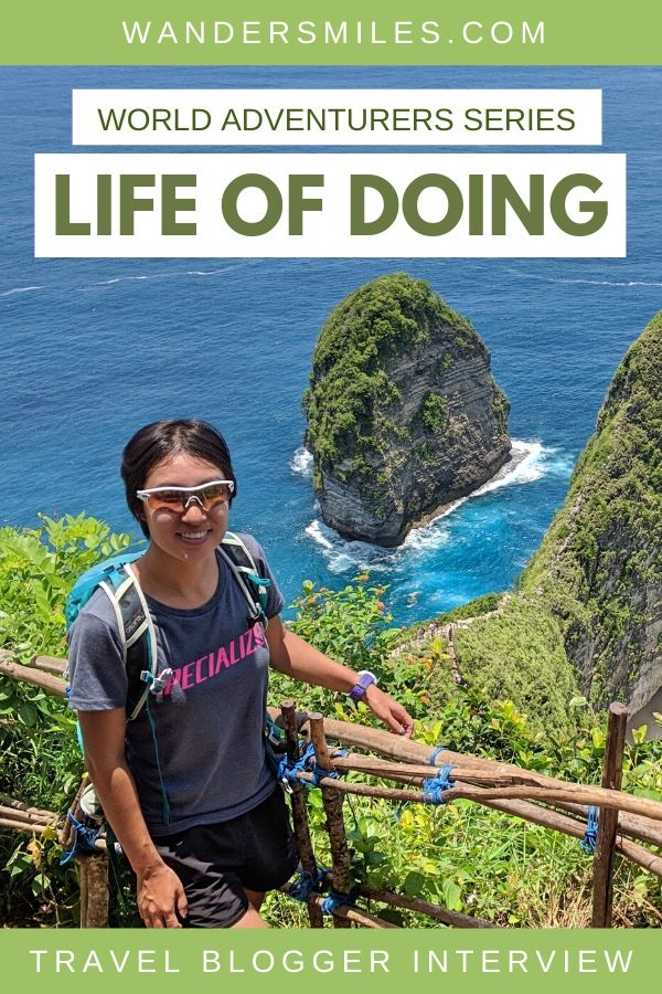 Jackie from Life Of Doing travel blog is interviewed about her travels for the Wanders Miles World Adventurers Series