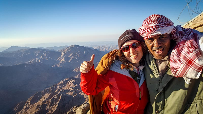 Mt Katherine's peak on the Sinai Trail in Egypt - Konstantina from My Unusual Journeys