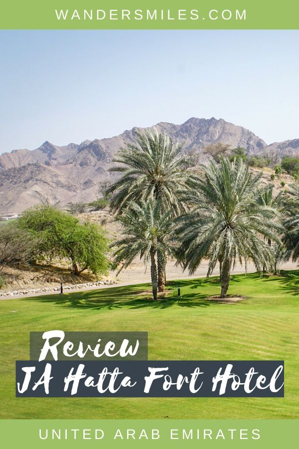 Review of the JA Hatta Fort Hotel in the United Arab Emirates