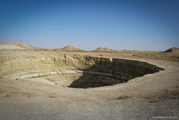 Smaller gas crater near the Darvaza Gas Crater