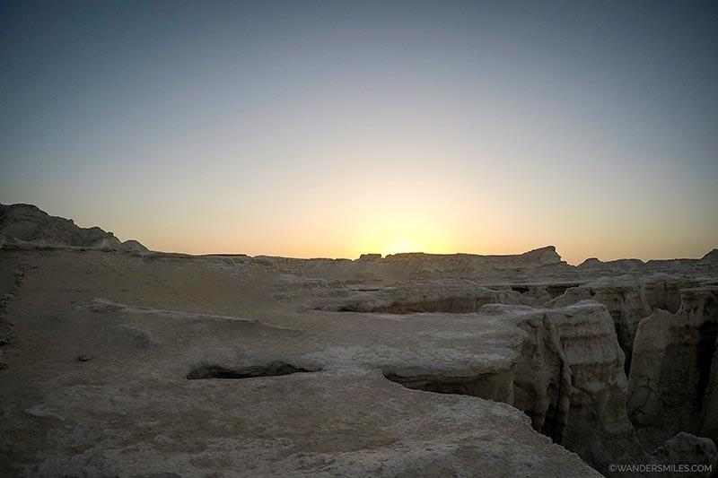 Beautiful sunset at the Valley of Fallen Stars on Qeshm Island