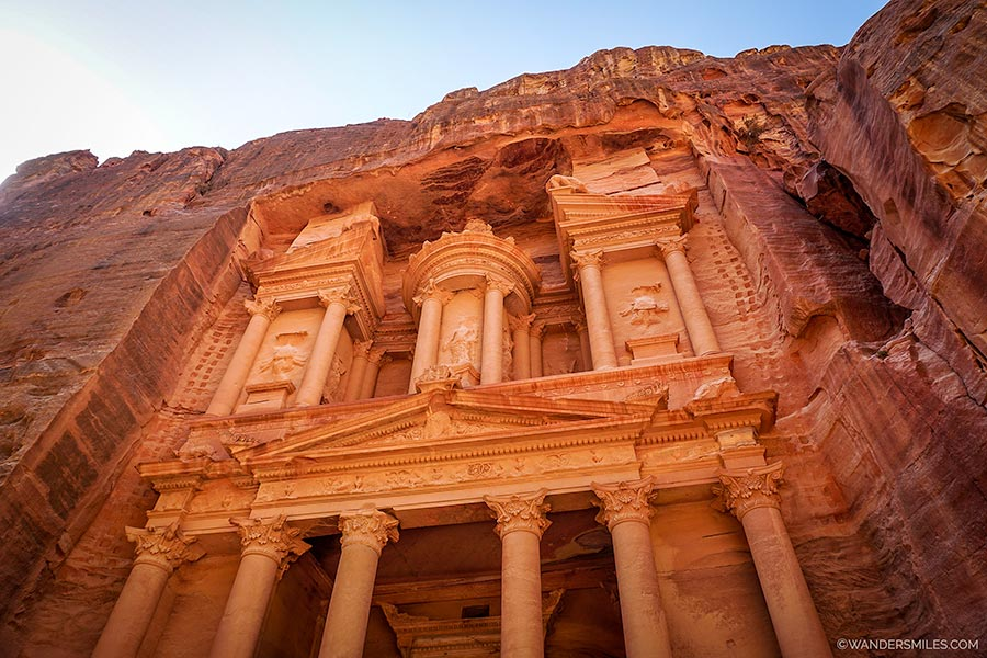The Treasury at Pink City of Petra in Jordan