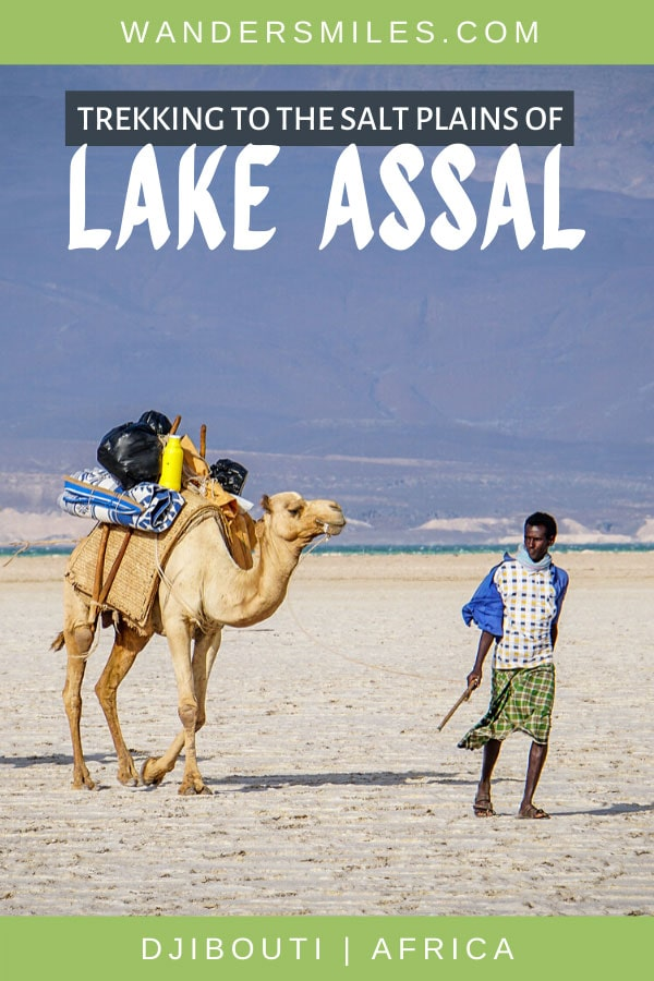 Trekking and camping by the saline Lake Assal, the lowest point in Africa